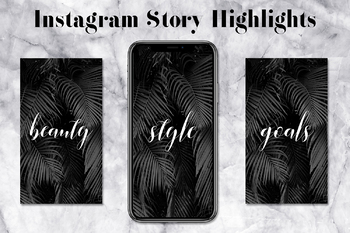 Minimal Instagram Highlight Icons, Palm Leaves Instagram Icons