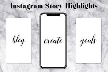 Minimal Instagram Story Highlight Covers