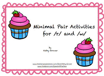 Minimal Pair Activities for /r/ and /w/, 2nd Edition