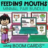 Minimal Pair Feeding Mouths BUNDLE | Boom Cards™ | Distanc