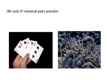 Minimal Pair practice:  /Ɵ/ vs /f/ teletherapy materials