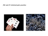 Minimal Pair practice:  /Ɵ/ vs /f/ teletherapy materials