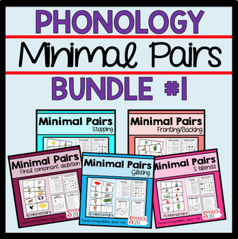 $$ Minimal Pairs Bundle: Fronting, S Blends, Stopping, Final Consonant
