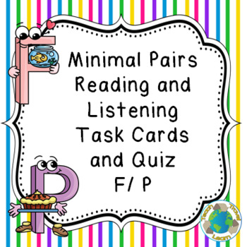 Minimal Pairs F and P Reading and Listening Task Cards