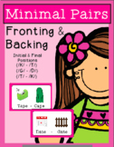 Minimal Pairs - FRONTING and BACKING