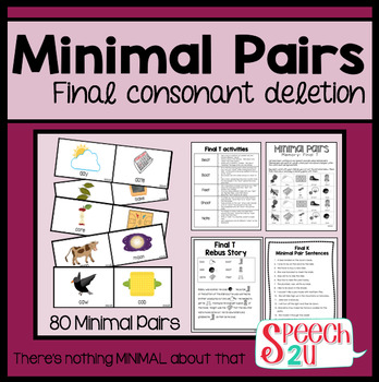 Minimal Pairs: Final Consonant Deletion, Phonology