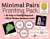 Minimal Pairs - Fronting/Backing Activities! TELETHERAPY &