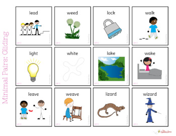Minimal Pairs: Gliding Interactive Book and Pictures