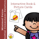 Minimal Pairs:  Initial Consonant Deletion Interactive Book and Pictures