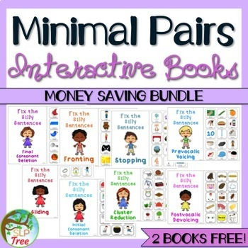 Minimal Pairs Interactive Book Bundle: Fix Silly Sentences