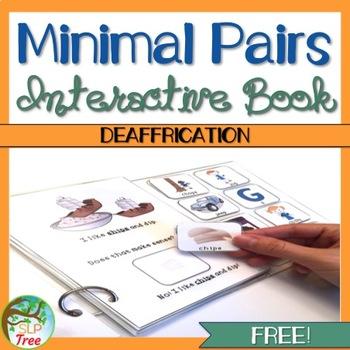 Minimal Pairs Interactive Book: Deaffrication FREE!