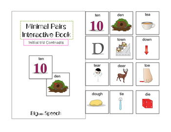 Minimal Pairs Interactive Book: Initial t/d Contrasts for Speech Therapy
