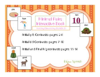 Minimal Pairs Interactive Books: Voicing/Devoicing BUNDLE