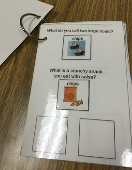 Minimal Pairs Interactive Book: sh/ch Contrasts for Speech Therapy