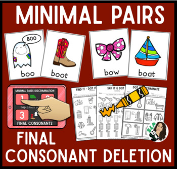 Minimal Pairs Interactive Unit for Final Consonants