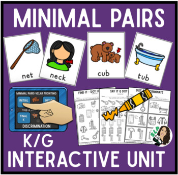 Minimal Pairs Interactive Unit for K/G