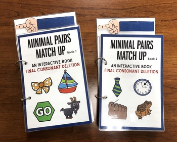 Minimal Pairs Matchup: Final Consonant Deletion 2 mini books!