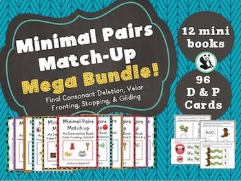 Minimal Pairs Matchup Mega Bundle! 12 Mini-Books and 96 D & P Cards!