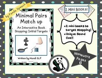 Minimal Pairs Matchup: Stopping (s/f) 2 mini books! Phonological Processing