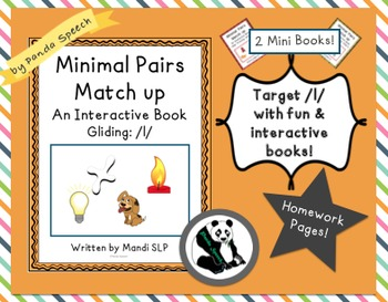 Minimal Pairs Matchup: Gliding- 2 mini books! Phonological Processing