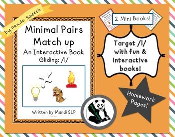 Minimal Pairs Matchup: Gliding- 2 mini books! Phonological