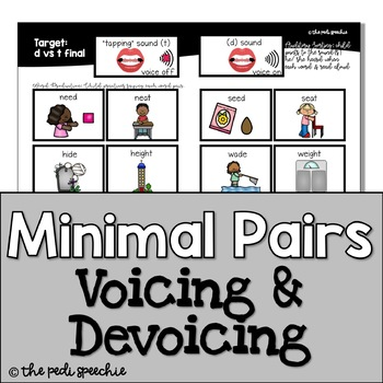 Minimal Pairs Voicing & Devoicing | Phonological Processes