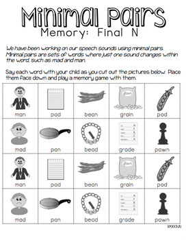 Minimal Pairs, Nasal Consonants M, N, Phonology
