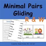 Minimal Pairs R and W, Gliding