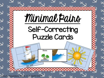 Minimal Pairs S, SH Self-Correcting Puzzle Cards
