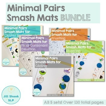 Minimal Pairs Smash Mats for Articulation and Phonology Bundle