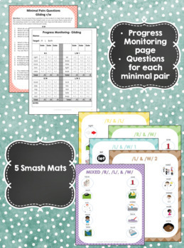 Minimal Pairs Smash Mats for Articulation & Phonology -  Gliding