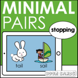 Minimal Pairs Stopping Boom Cards | Articulation | Speech Therapy