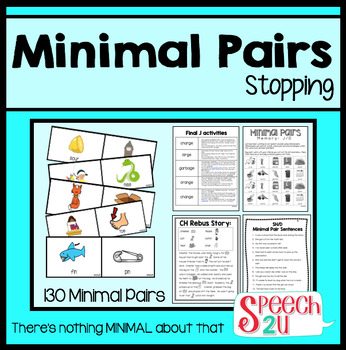 Minimal Pairs, Stopping, Phonology, Speech Therapy