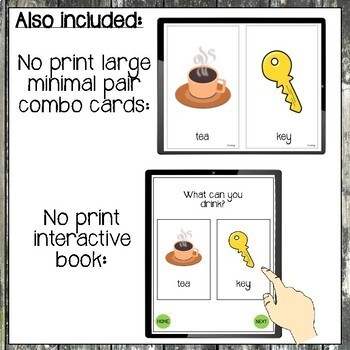 NO PRINT Minimal Pairs for Fronting/Backing for Speech Therapy