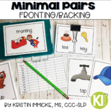 Minimal Pairs for Fronting/Backing Printable Cards for Spe