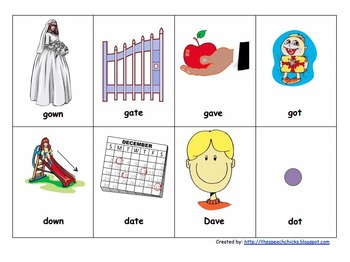 Minimal Pairs for Fronting of K and G Sounds