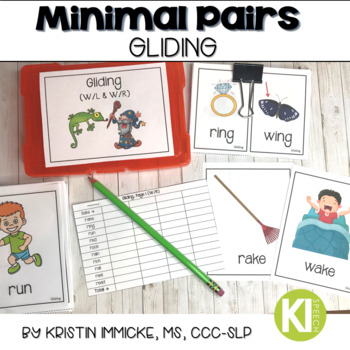 Minimal Pairs for Gliding Printable Cards for Speech Therapy