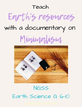 Minimalism - NGSS, Earth's Resources Worksheet