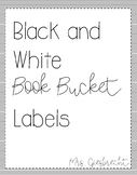 Minimalist Black and White Classroom Library Labels
