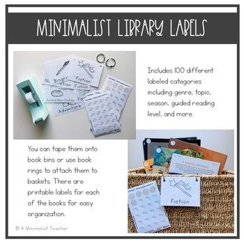 Minimalist Classroom Library Labels