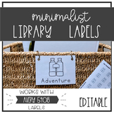 Minimalist Classroom Library Labels