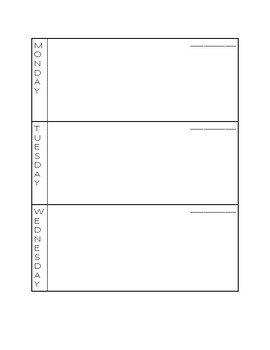 Minimalist Day Book Template