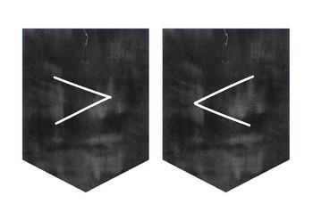 Minimalist Design Chalkboard/Blackboard Alphabet Bunting
