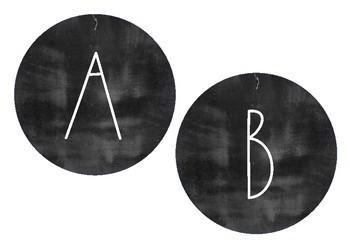 Minimalist Design Chalkboard/Blackboard Round Bunting Wall Headers