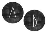 Minimalist Design Chalkboard/Blackboard Round Bunting Wall