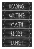 Minimalist Design Chalkboard/Blackboard Schedule Cards