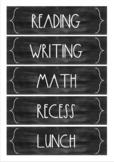 Minimalist Design Chalkboard Blackboard Schedule Cards SAMPLE