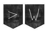 Minimalist Design Chalkboard/Blackboard Welcome Bunting