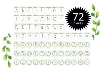 Minimalist Design Foliage & Wreath Alphabet Bunting (Double Pack)