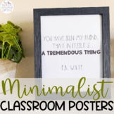 Minimalist Farmhouse Posters for Classroom Decor